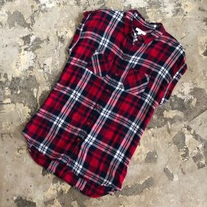 Nordstrom BLL New York Red Plaid Button Up